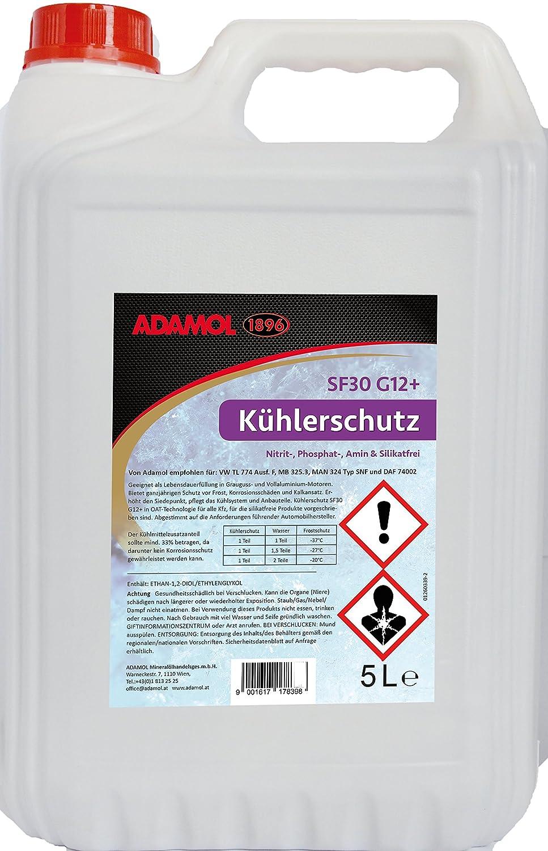 ADAMOL 1896 01260339 Kü hlerschutz SF30 G12 Plus, 5 L ADAMOL Mineralölhandelsges.m.b.H.