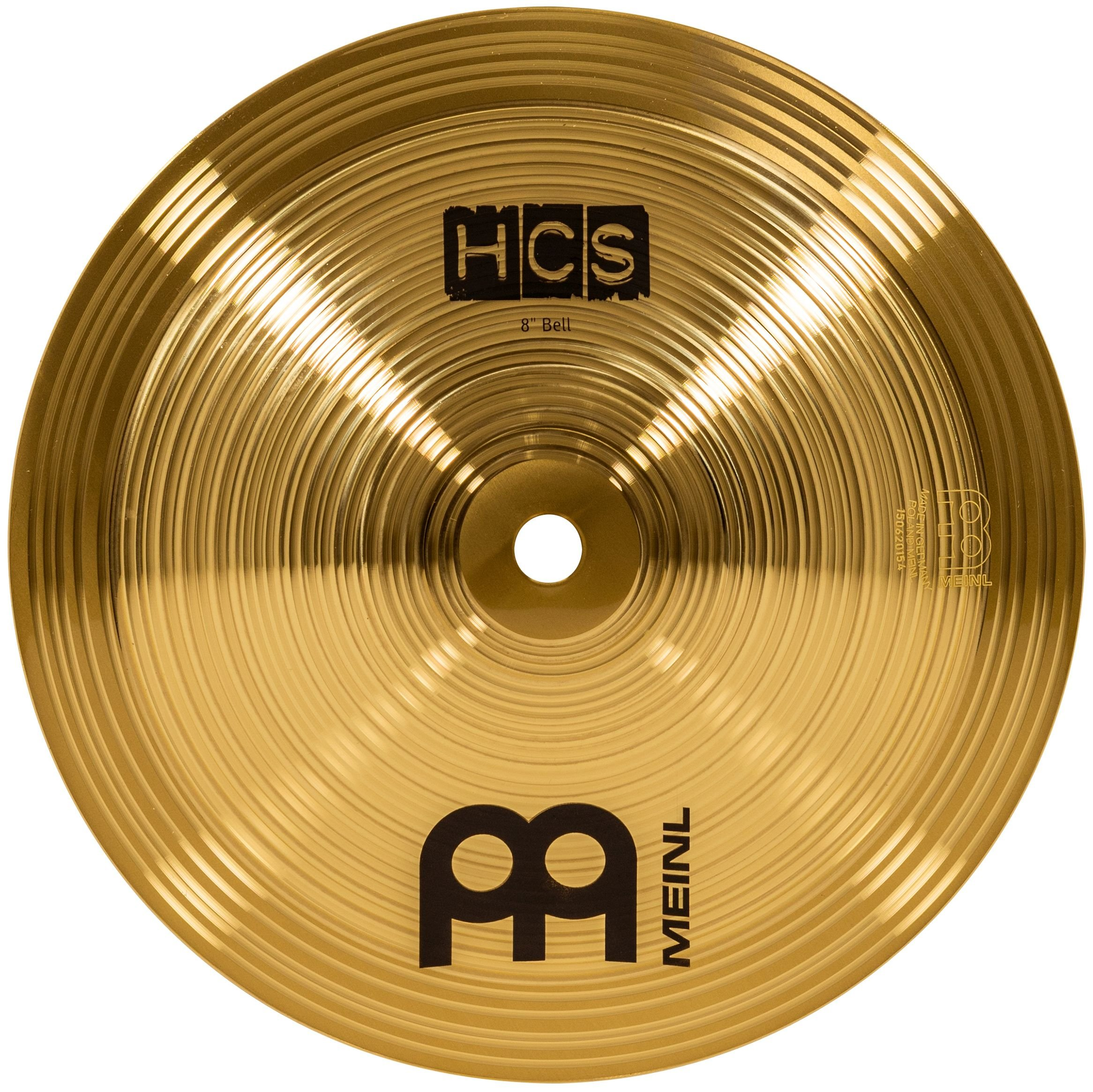Meinl 8'' Bell - HCS Traditional Finish Brass for Drum Set, Made In Germany, 2-YEAR WARRANTY (HCS8B) by Meinl Cymbals