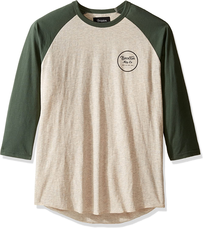 Brixton Camisa Wheeler 3-4 Oatmeal - M: Amazon.es: Ropa y accesorios