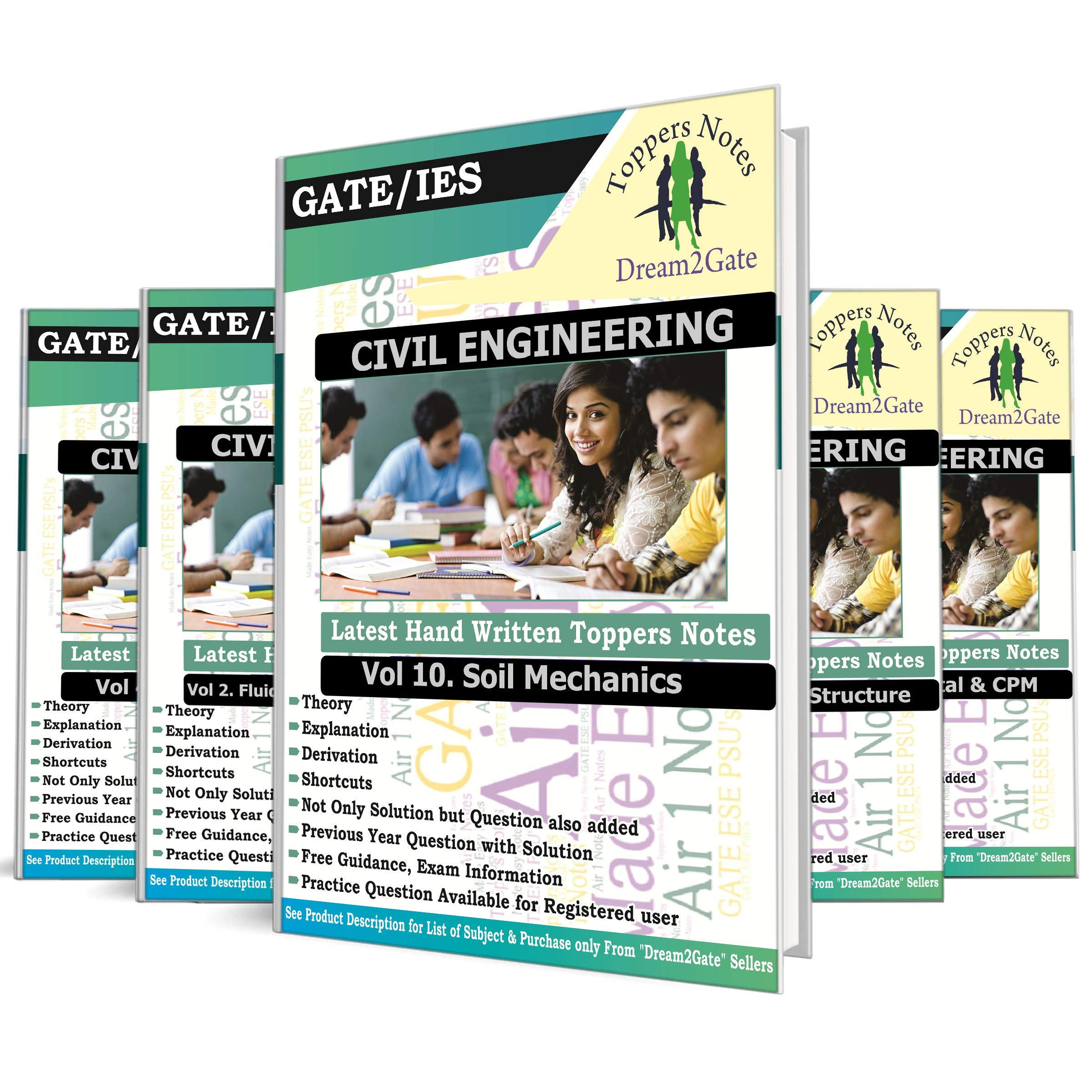 Buy GATE PSU's Civil Engineering Toppers Handwritten Notes