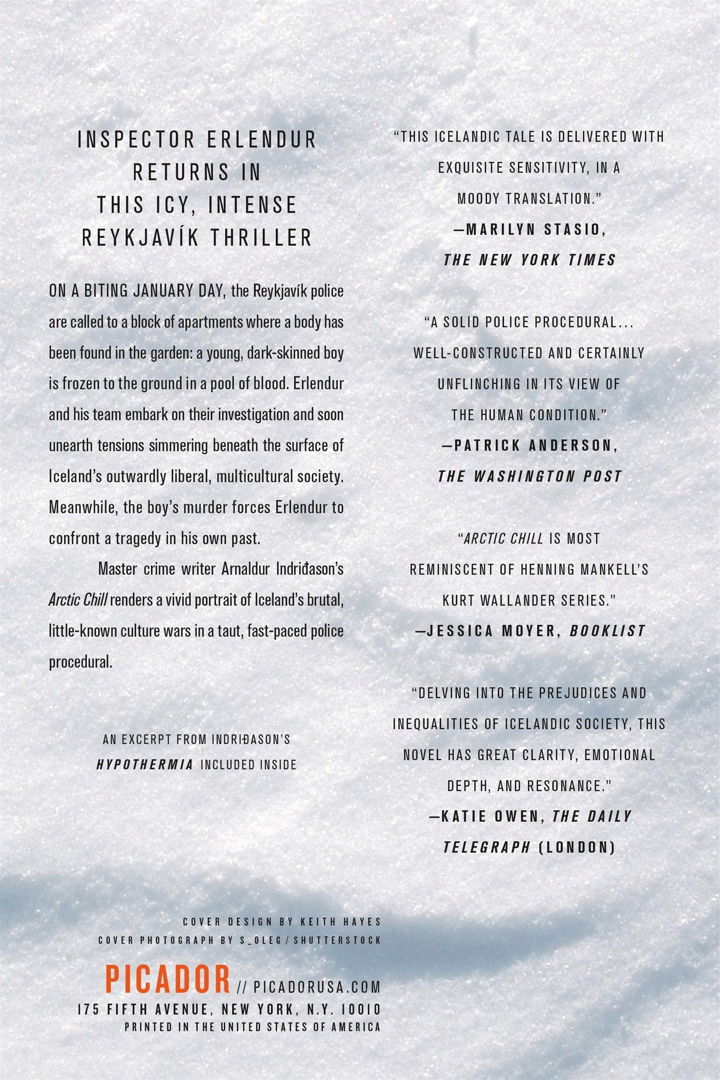 Arctic Chill: An Inspector Erlendur Novel (an Inspector Erlendur Series):  Arnaldur Indridason, Bernard Scudder, Victoria Cribb: 9780312655303:  Amazon: