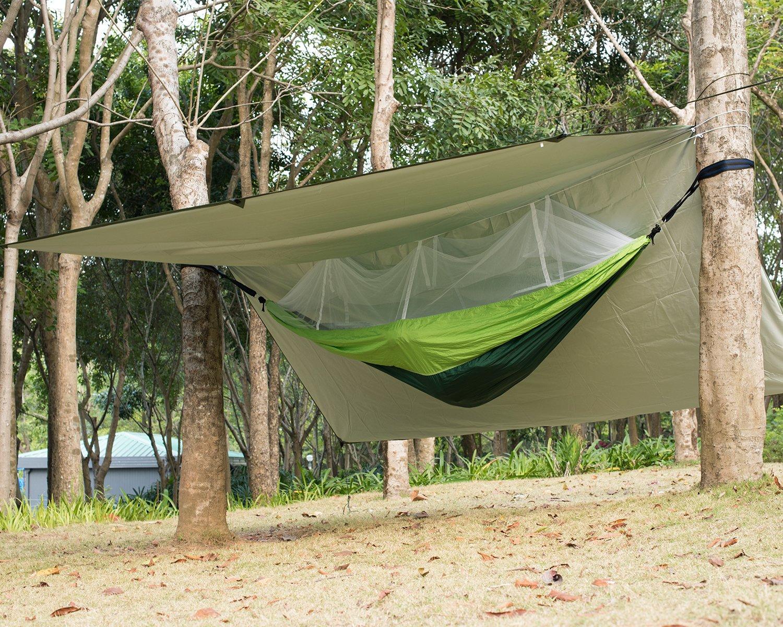 Airand Camping Hamaca Ultra Ligera con mosquitera y 3 x 3 m Tienda Lona portátil: Amazon.es: Jardín