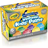 Crayola Washable Metallic Paint Set, 2-Ounce, 6 Count