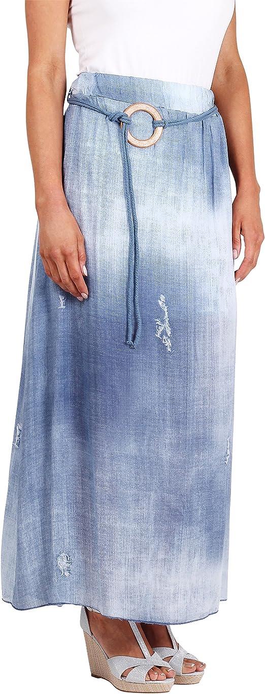 KRISP 4747-BLU-ML (Falda Azul Despintada): Amazon.es: Ropa y ...