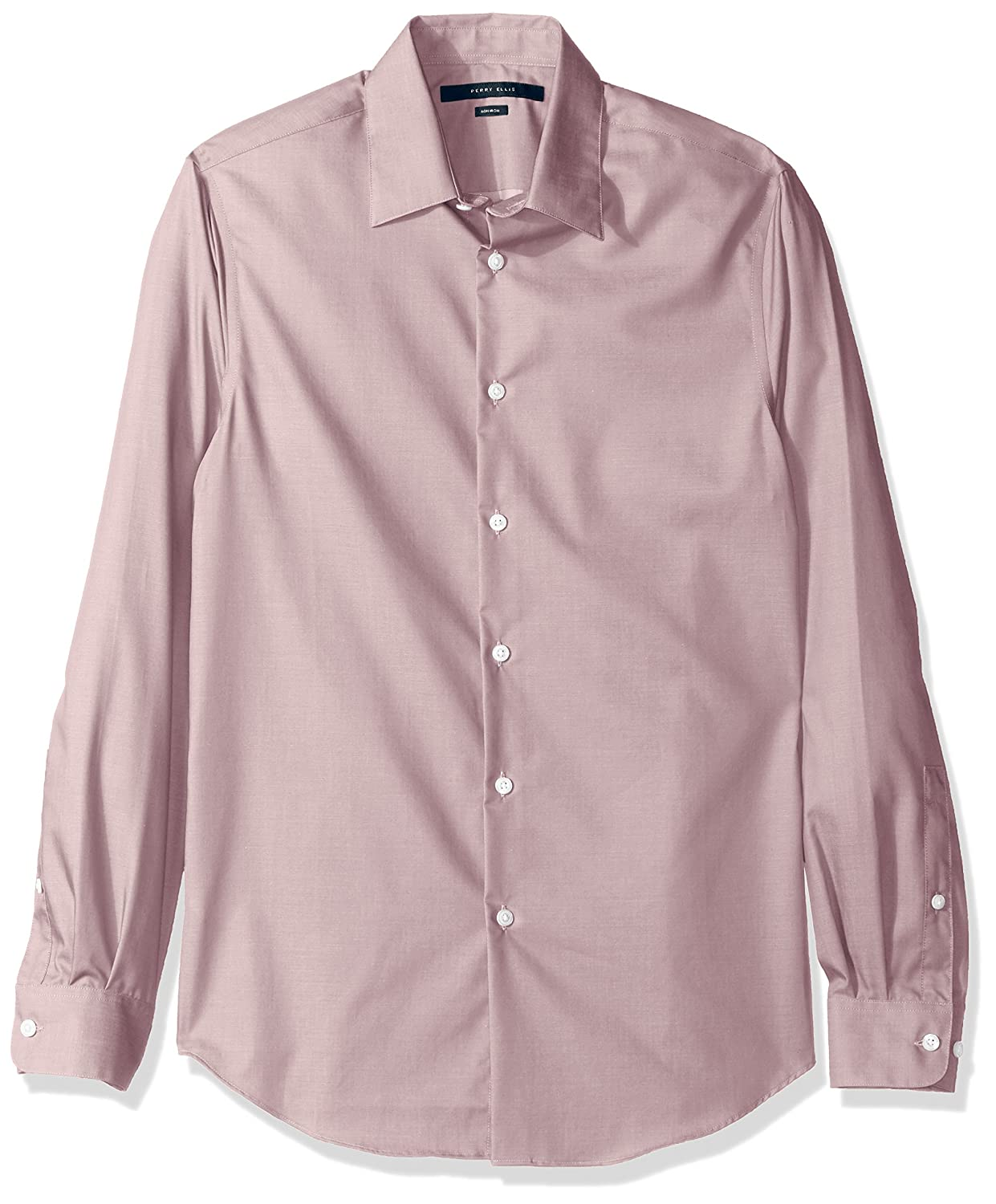 Perry Ellis Mens Travel Luxe Solid Non-Iron Twill Shirt
