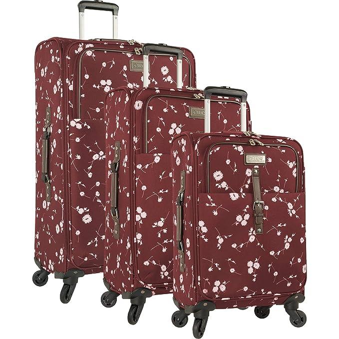 Amazon.com: Chaps - Juego de 4 piezas de equipaje giratorio ...