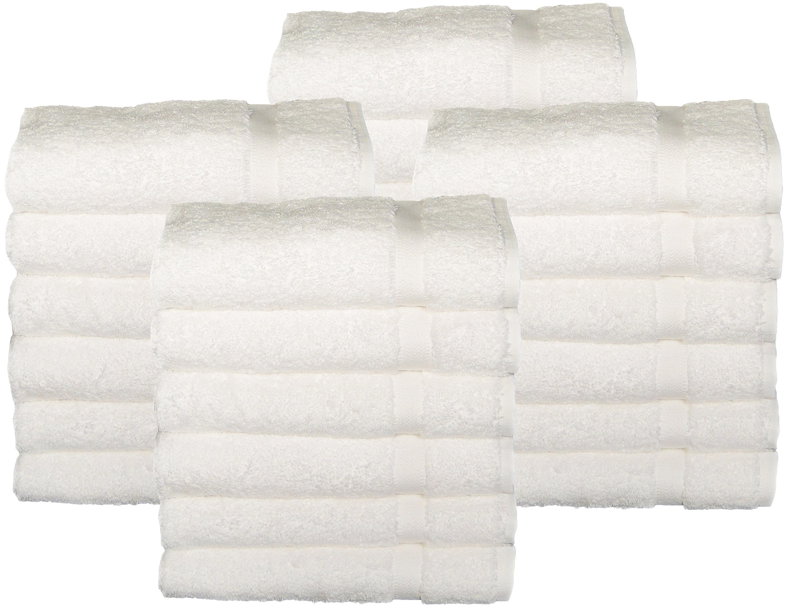 HomeLabels Cotton Salon Towels (24-Pack, White,16x26 inches) - Gym Hand Face Towel
