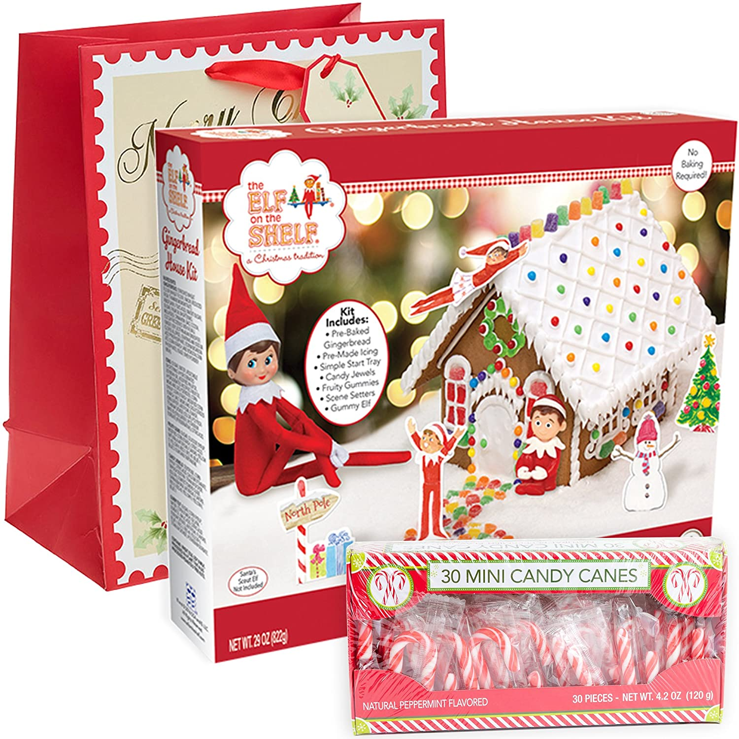 Amazon Elf on the Shelf Gingerbread House Kit Pre baked Pack