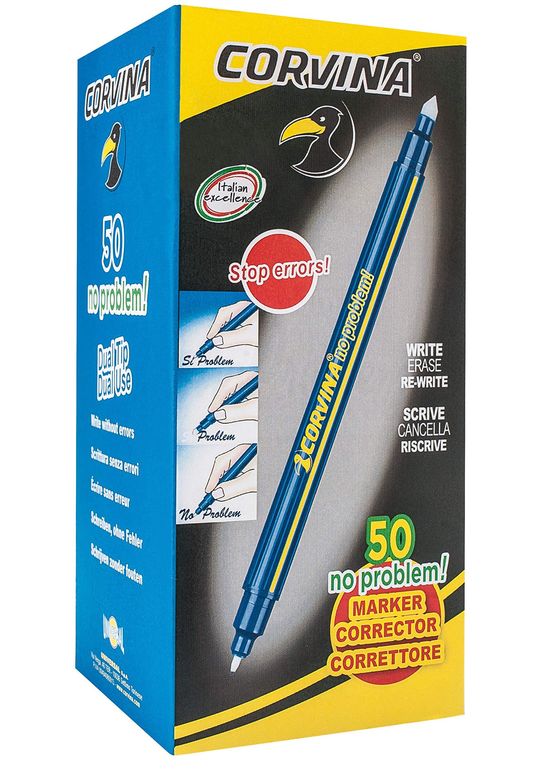 No Problem! Box of 50 Blue Fibre Tip Pens