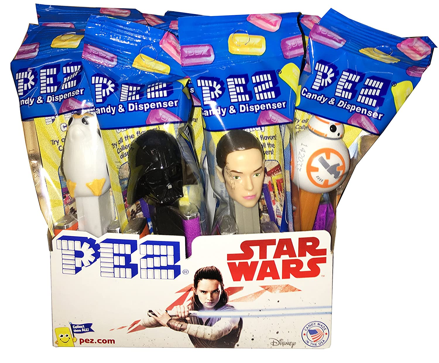 Star Wars PEZ Candy Dispensers: Pack of 12 Unknown