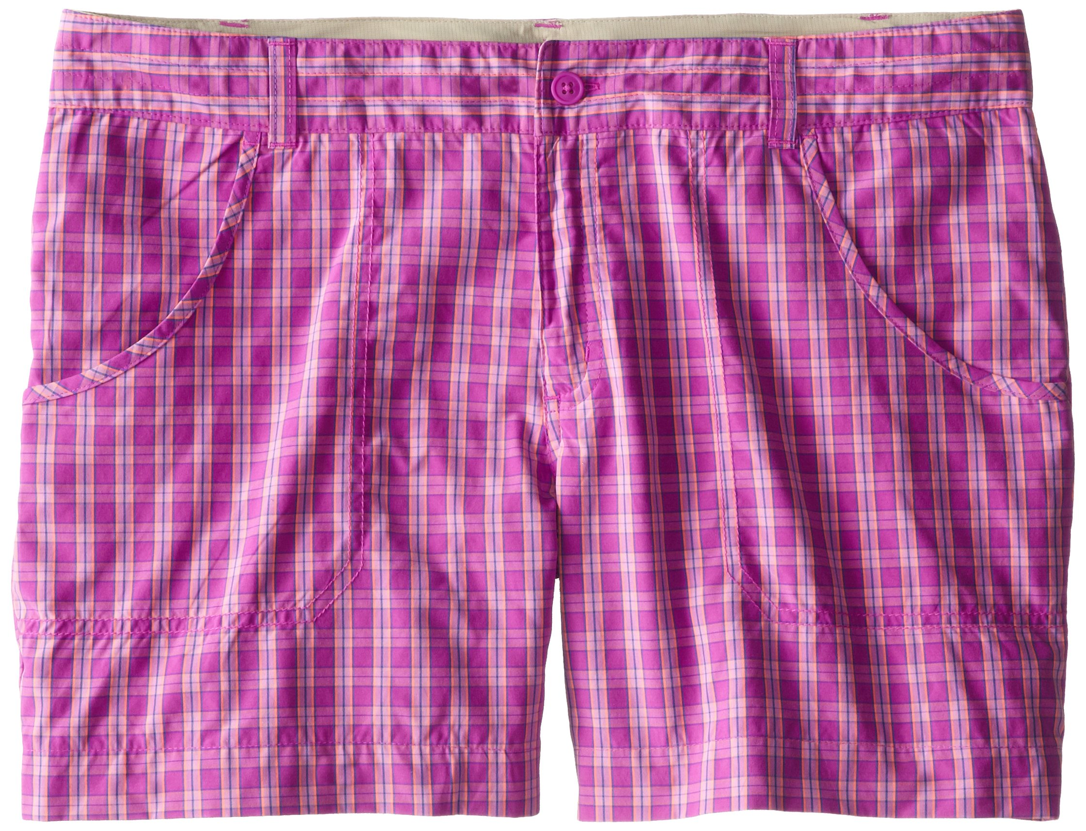 Columbia Girl's Silver Ridge III Shorts, Foxglove Plaid, Medium by Columbia