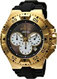 Invicta Men's 'Excursion' Quartz Stainless Steel and Silicone Casual Watch, Color:Black (Model: 23043)