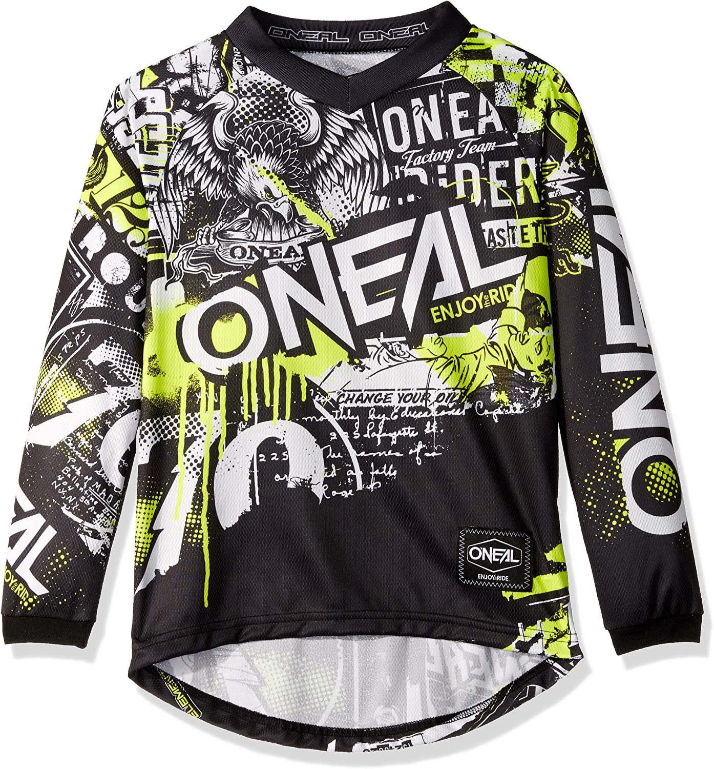 Element Youth Jersey Attack Black//neon Yellow S