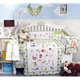 SoHo A-Z Alphabet Baby Boy Crib Nursery Bedding Set 14 pcs with diaper bag, changing pad and bottle case