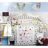 SoHo Baby Crib Bedding 9 Piece Set, Letters