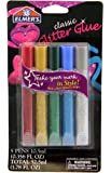 Elmer's Washable Glitter Glue Pens, Pack of 5 Pens, Classic Glitter Colors (E642)