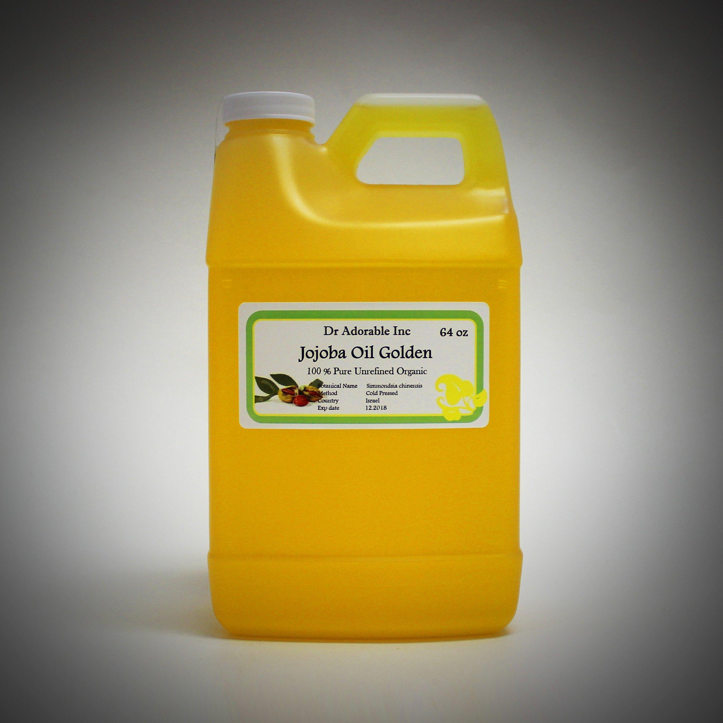Jojoba Oil Golden Organic 100% Pure By Dr.Adorable 64 oz / 2 Quarters