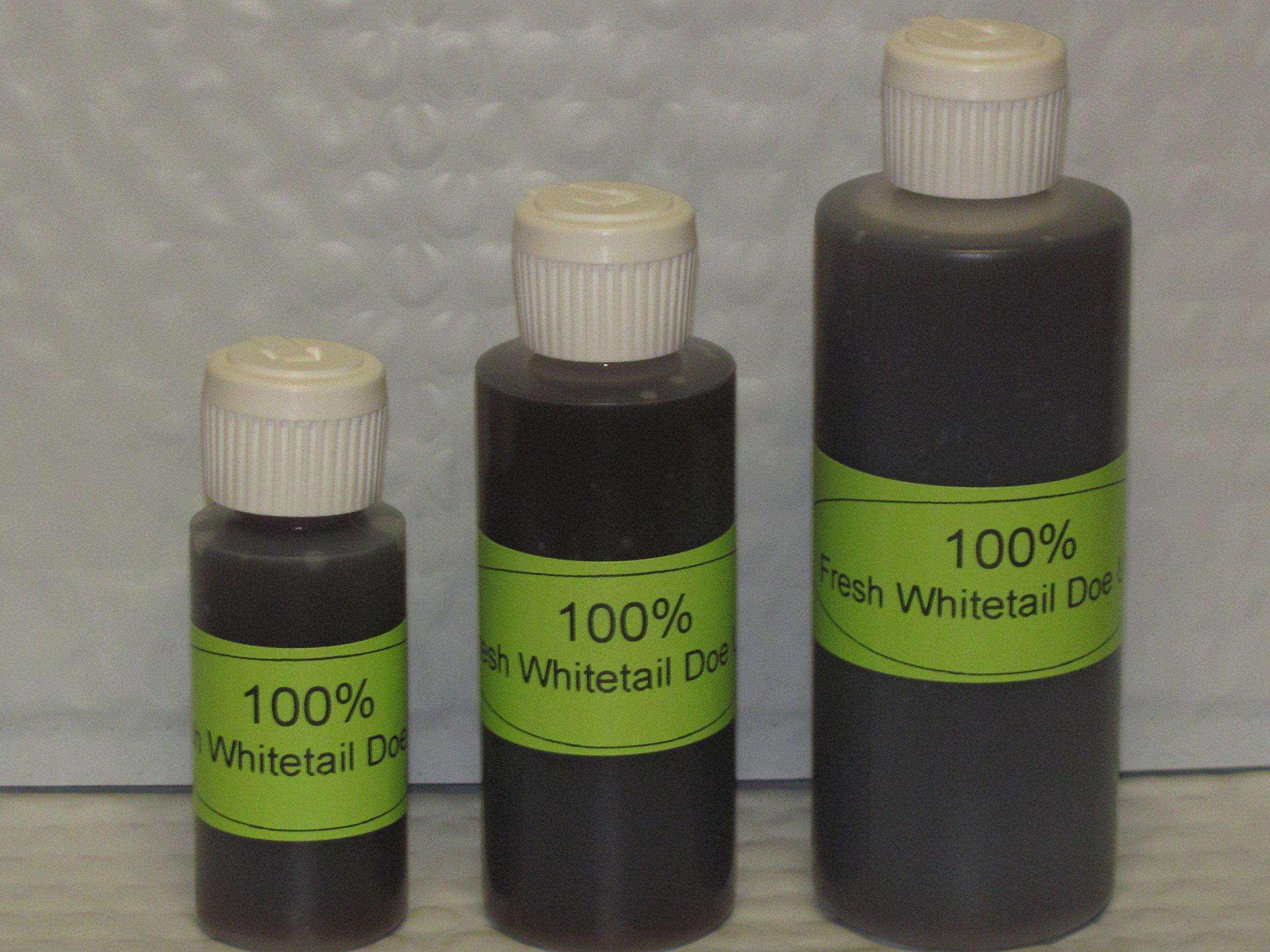 100 % FRESH WHITETAIL DOE URINE 4 oz. Hunting
