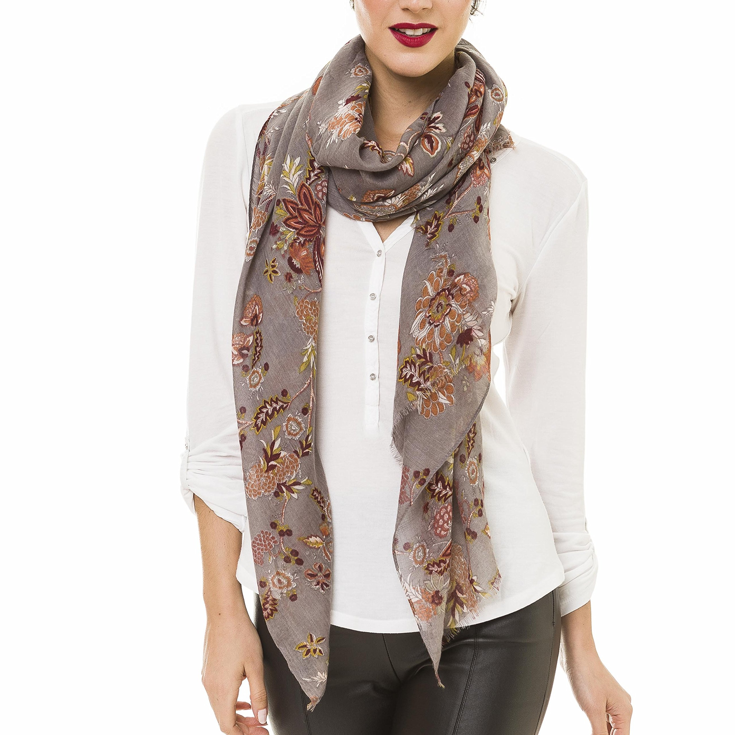 Scarf for Women Lightweight Paisley Fashion Fall Winter Scarves Shawl Wraps (NF47-4)