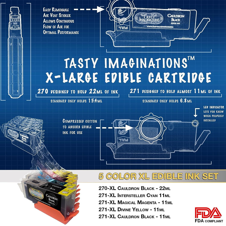 Amazon.com: Edible Canon LCD Printer Bundle 5 Edible Ink Cartridge ...