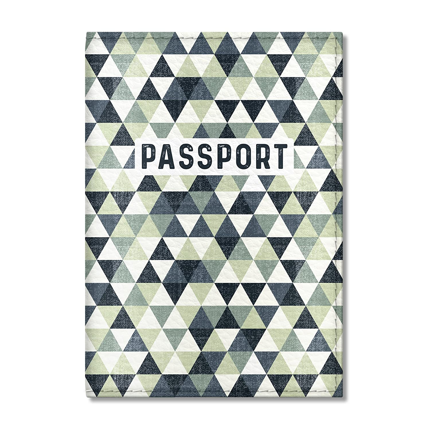 Cute Passport Cover for Women and Men, by Govinda Crafts, Eco Leather Passport Holder (Tourist Pattern)