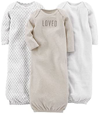 Amazon.com: Simple Joys by Carter\'s Baby 3-Pack Cotton Sleeper ...