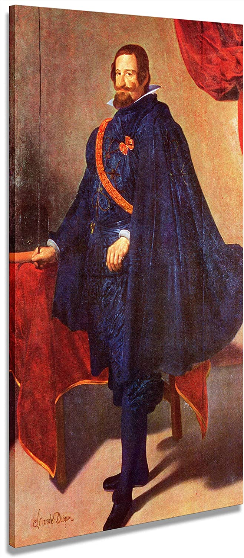 Digipix Artenòr Quadro Velázquez Diego Il Conte Duca di Olivares a Cavallo 1634 - Impresión sobre lienzo enmarcado - 52 x 86 cm