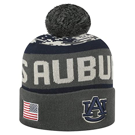 Top of the World NCAA-Salute to USA Military-Cuffed Knit Pom Beanie Hat a310a551b