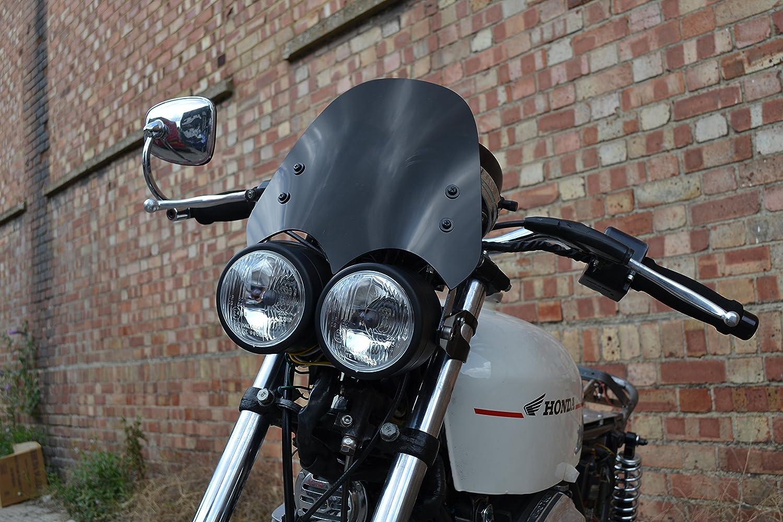 Qualit/ät Motorrad Windschutzscheibe Windschutzscheibe Retro Dominator Streetfighter Trike