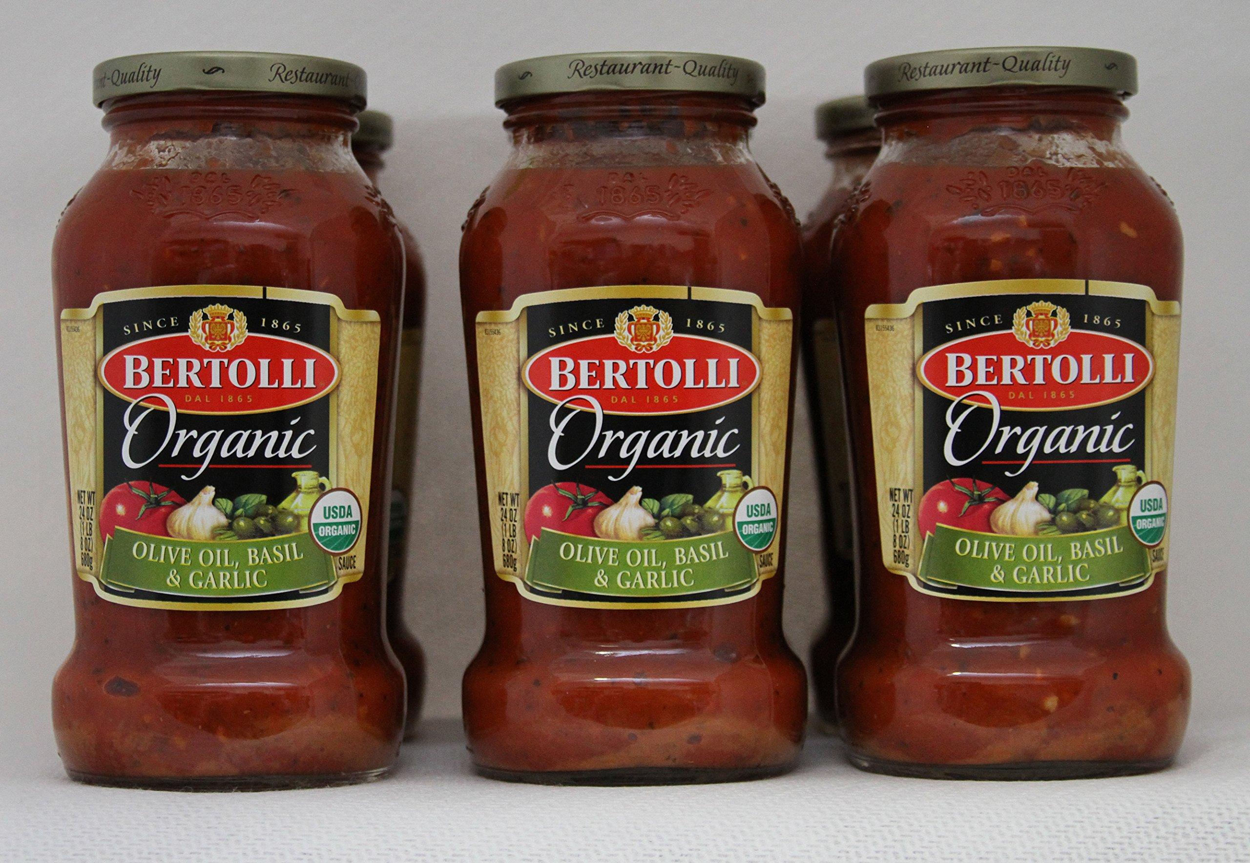 Bertolli - Olive Oil, Basil, & Garlic Organic Sauce 24 oz - 6 Pack