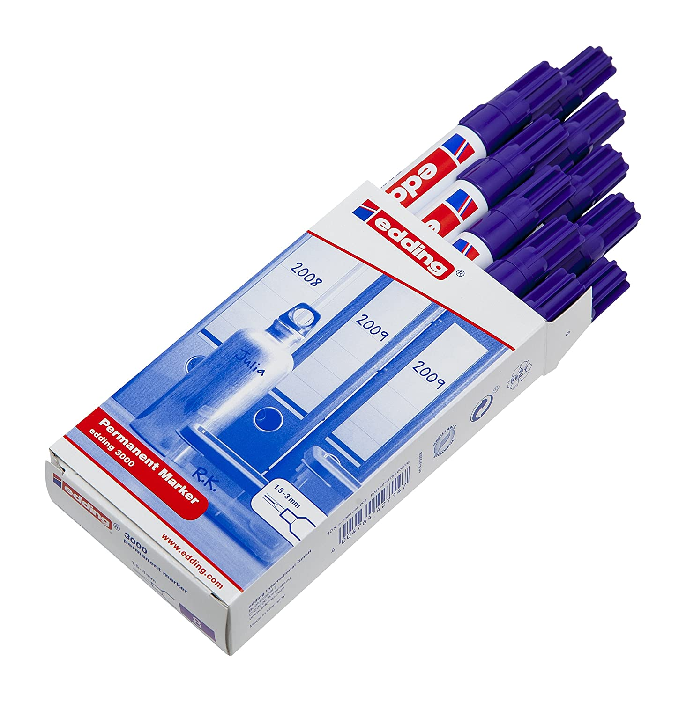 nachfüllbar 1,5-3 mm Permanentmarker edding 3000 violett