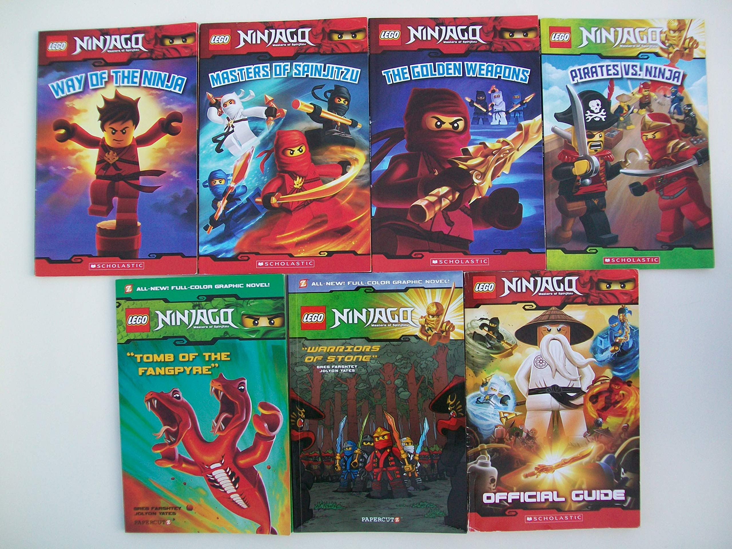 Lego Ninjago Readers & Graphic Novels (Mixed Set of 7) Way