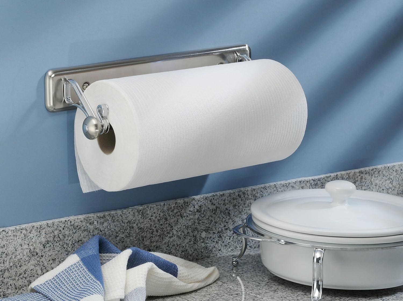 Amazon.com: InterDesign York Lyra Wall Mounted Paper Towel Holder ...