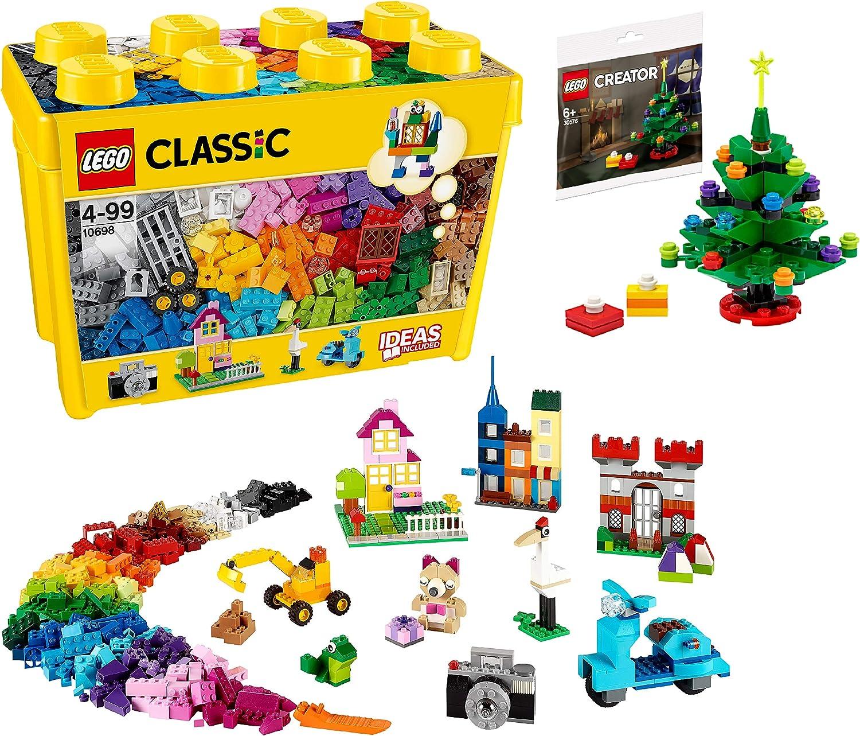【メーカー特典】レゴ(LEGO) クラシック 黄色のアイデアボックス スペシャル 10698 + クリスマスツリーミニセット付き