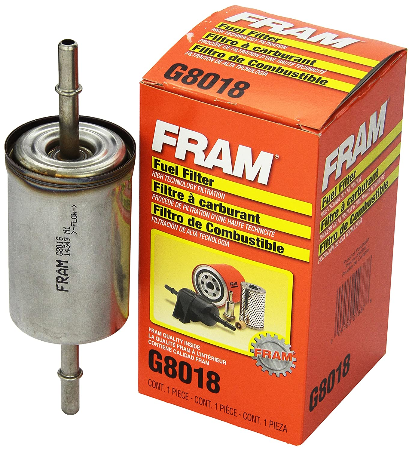 Fram G8018 In Line Fuel Filter Automotive 2001 Ford Mustang Replacement