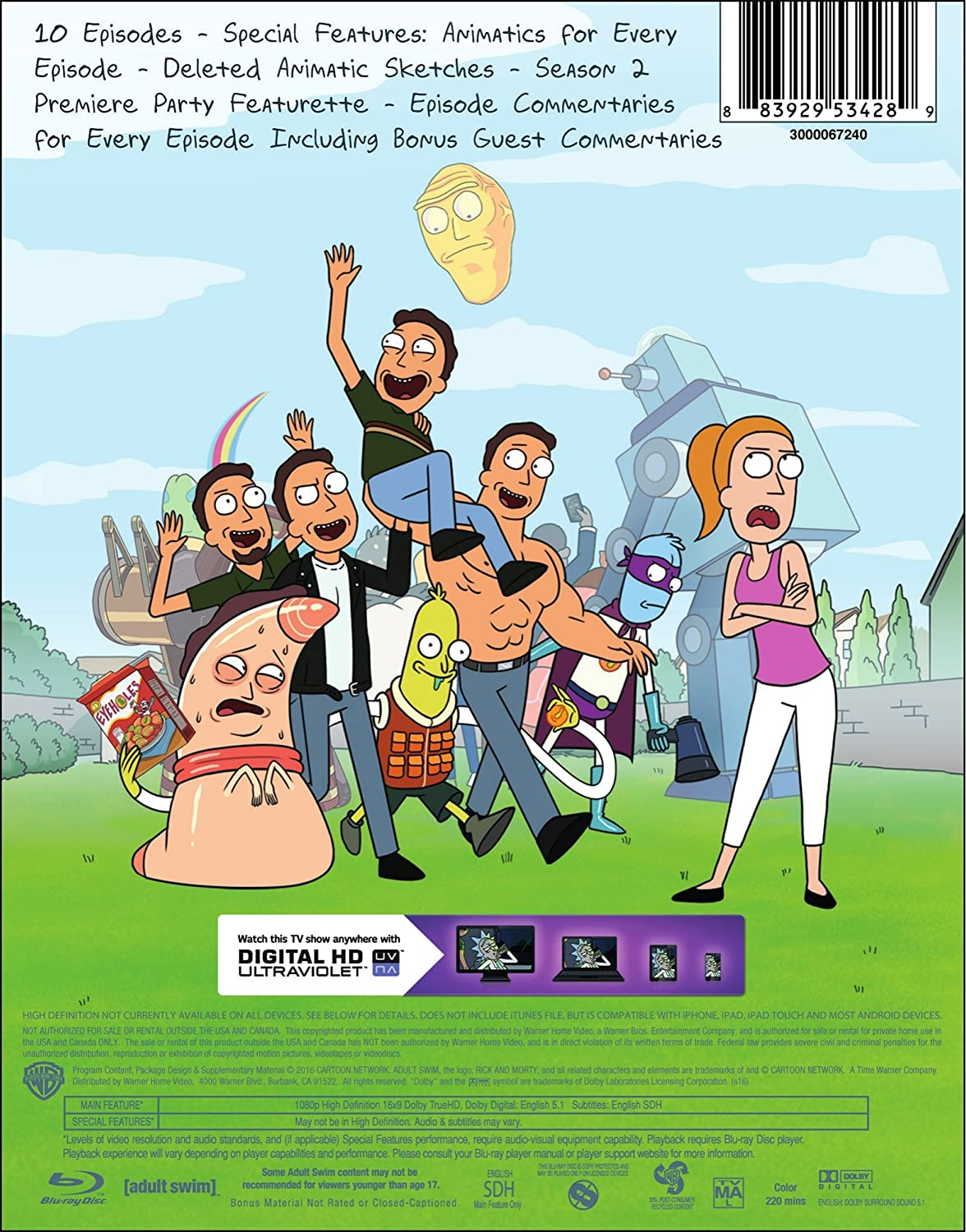 Amazon com: Rick and Morty: The Complete Second Season [Blu