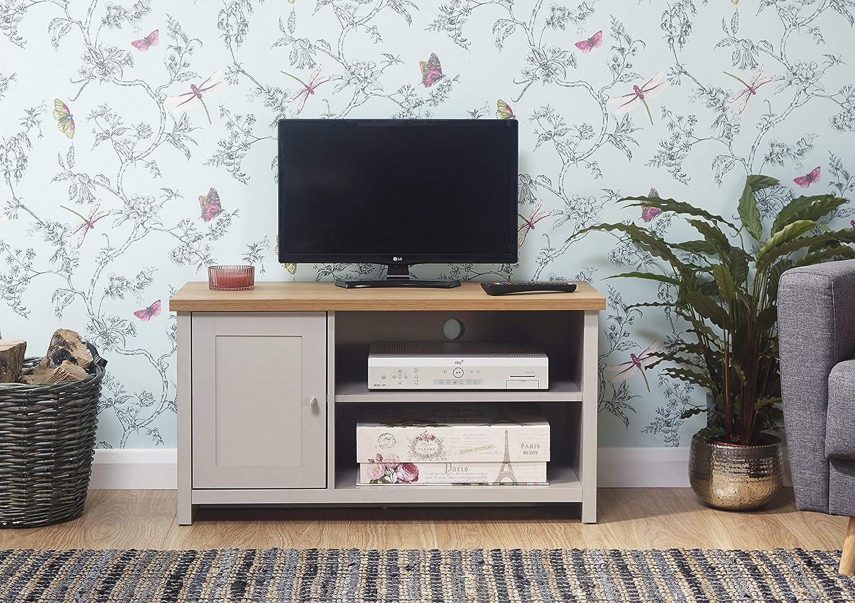 Lancaster Grey Living Room Furniture Range (Small Tv Cabinet)