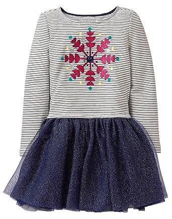 0de4e8a4cbb Amazon.com  Gymboree Girls  Little Long Sleeve Snowflake Tutu Dress   Clothing