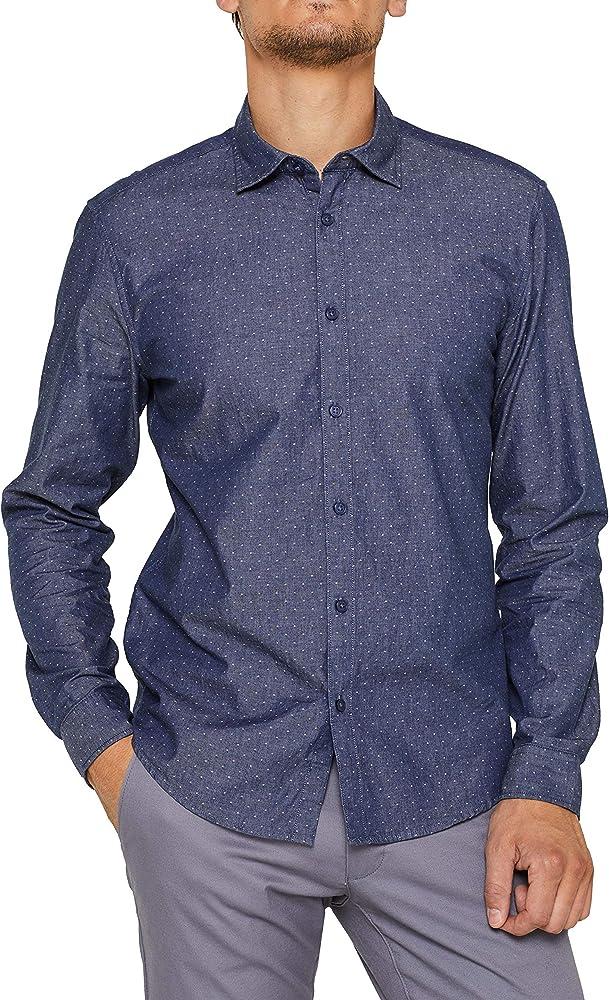 Esprit 089ee2f006 Camisa, Azul (Navy 400), Small para Hombre: Amazon.es: Ropa y accesorios