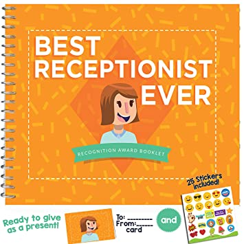 Amazon Com Best Receptionist Ever Edition This 24 Page Booklet Is