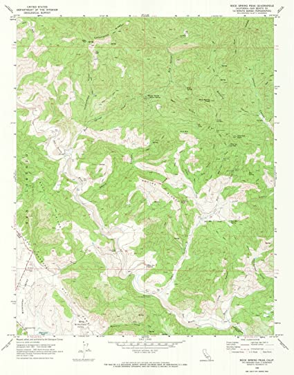 Amazon com: California Maps | 1969 Rock Spring Peak, CA USGS
