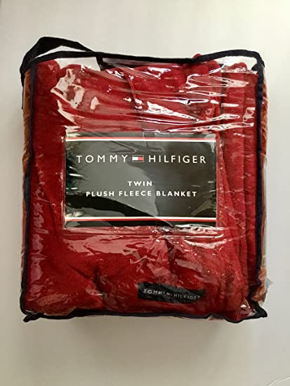 3b23a138 Image Unavailable. Image not available for. Color: Tommy Hilfiger Twin Plush  Fleece Solid Blanket ...