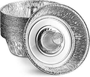 MontoPack 10'' Disposable Aluminum Foil Pans for Baking Cakes | Perfect for Angel Food Cake, Orange Rolls, Fruitcakes and Pastries | Easy Clean Up, Heat and Freeze Baked Goods (10 Pack)
