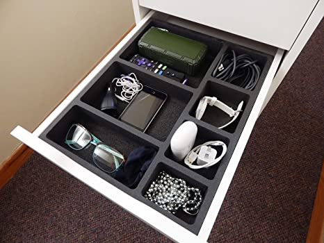 284a7f4e6 Polar Whale Drawer Organizer Compatible with IKEA Alex Tray Non-Slip  Waterproof Insert for Office