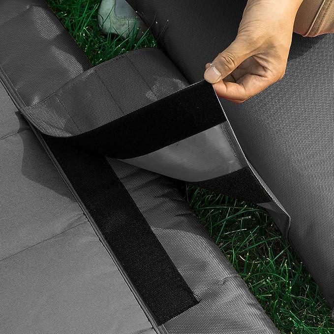 200 kg L97*P207 cm Grigio OGS44-DG SoBuy Lettino da Giardino con Ruote Poltrona a Dondolo Sdraio Giardino Letto Singolo Max