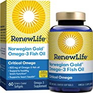 Renew Life Critical Omega Norwegian Gold, Fish Oil and Omega 3's, 60 Count