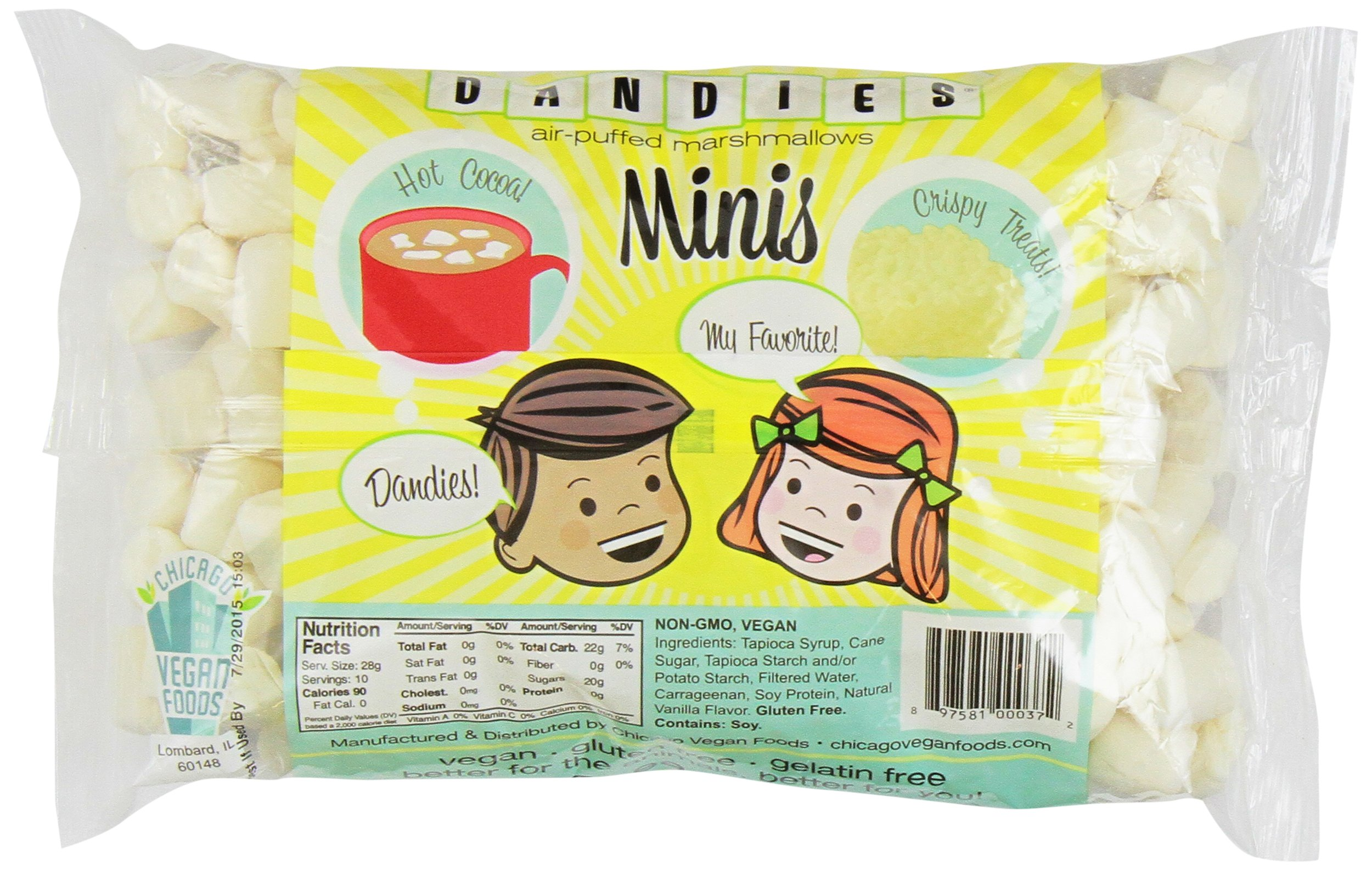 Dandies - Minis - Vegan Marshmallows, Vanilla, 10 Ounce (Pack of 2) by Dandies