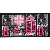 Tapis Déco Tapis Polyamide/Latex Imprimé London Girl 115 x 57 x 115 cm