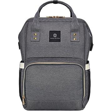 Soulsten Diaper Bag Backpack - Waterproof & Durable Multi-Function Baby  Nappy Bags - Large