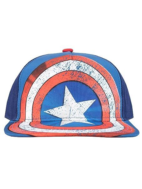 Marvel Gorra para niño Capitán América Talla única: Amazon.es ...